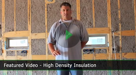 Green homebuilding in dallas why high density cellulose for High density fiberglass insulation